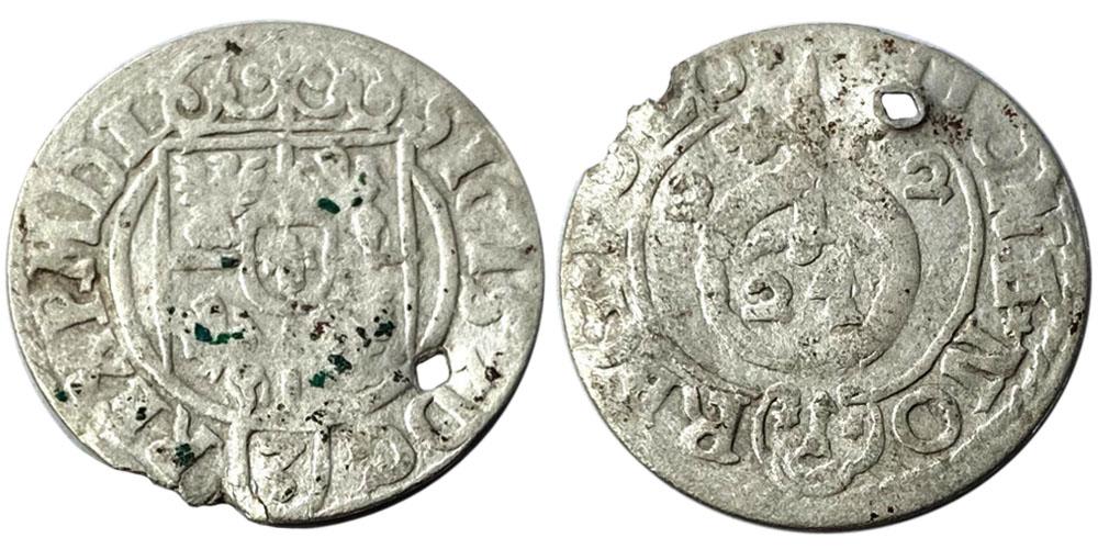 Полторак (1,5 гроша) 1622 Польша — Сигизмунд III — серебро №17