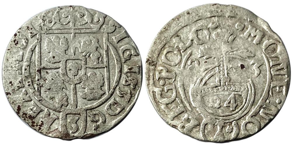 Полторак (1,5 гроша) 1623 Польша — Сигизмунд III — серебро №20
