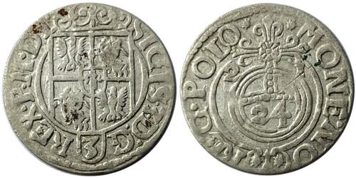 Полторак (1,5 гроша) 1621 Польша — Сигизмунд III — серебро №5