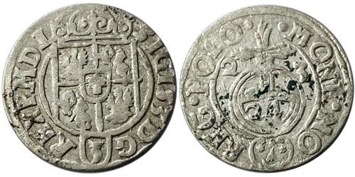 Полторак (1,5 гроша) 1623 Польша — Сигизмунд III — серебро №21