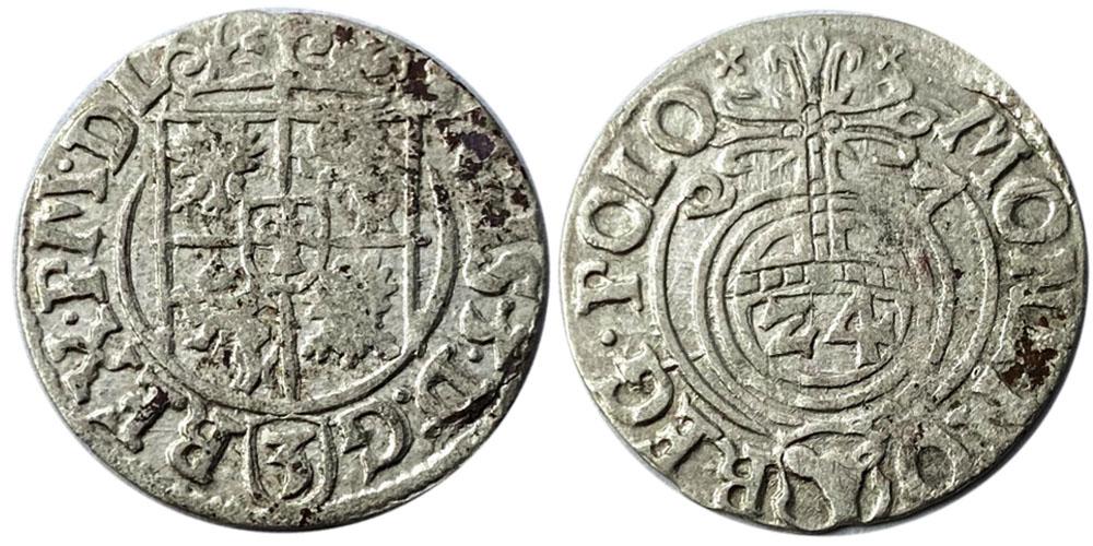 Полторак (1,5 гроша) 1627 Польша — Сигизмунд III — серебро №3