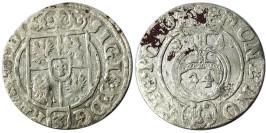Полторак (1,5 гроша) 1624 Польша — Сигизмунд III — серебро №5