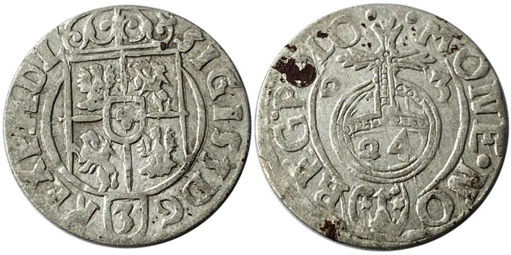 Полторак (1,5 гроша) 1623 Польша — Сигизмунд III — серебро №22