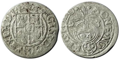 Полторак (1,5 гроша) 1623 Польша — Сигизмунд III — серебро №24