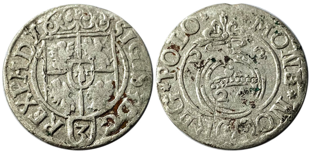 Полторак (1,5 гроша) 1622 Польша — Сигизмунд III — серебро №18