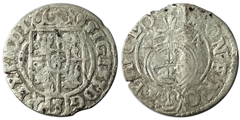 Полторак (1,5 гроша) 1624 Польша — Сигизмунд III — серебро №12
