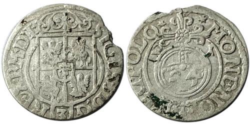 Полторак (1,5 гроша) 1621 Польша — Сигизмунд III — серебро №6