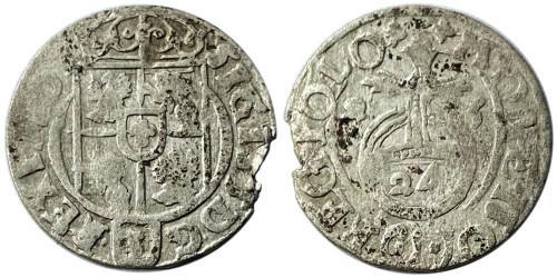 Полторак (1,5 гроша) 1623 Польша — Сигизмунд III — серебро №25