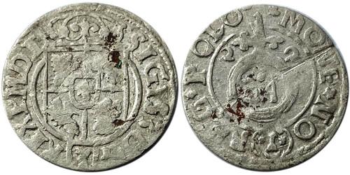 Полторак (1,5 гроша) 1622 Польша — Сигизмунд III — серебро №19