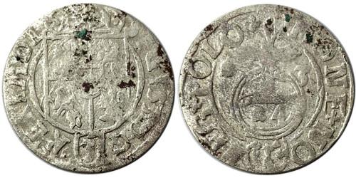 Полторак (1,5 гроша) 1623 Польша — Сигизмунд III — серебро №26