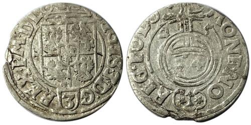 Полторак (1,5 гроша) 1625 Польша — Сигизмунд III — серебро №7