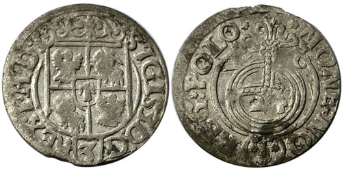 Полторак (1,5 гроша) 1620 Польша — Сигизмунд III — серебро №4