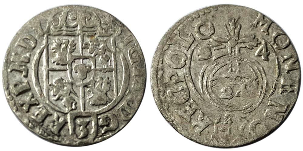 Полторак (1,5 гроша) 1624 Польша — Сигизмунд III — серебро №14