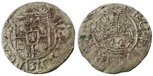Полторак (1,5 гроша) 1633 Польша — Сигизмунд III — серебро №3