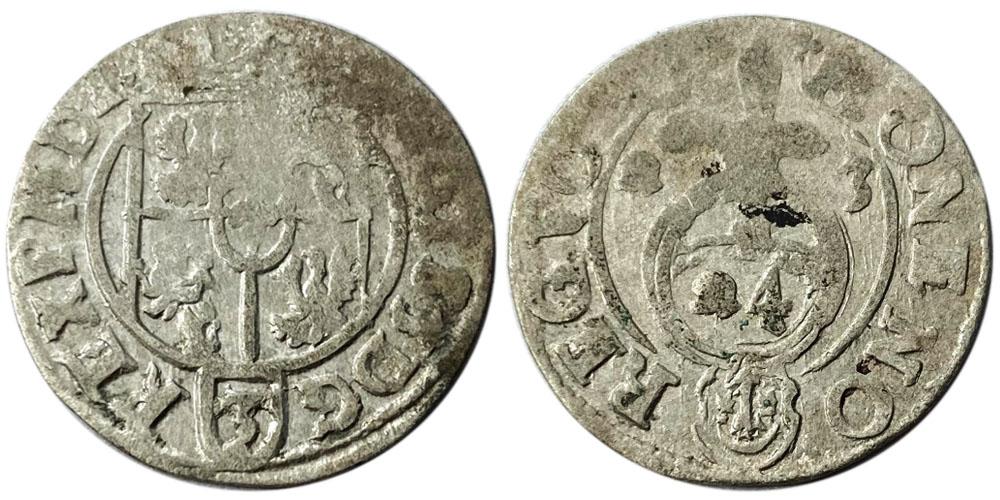 Полторак (1,5 гроша) 1623 Польша — Сигизмунд III — серебро №28