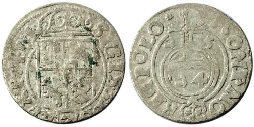 Полторак (1,5 гроша) 1625 Польша — Сигизмунд III — серебро №9