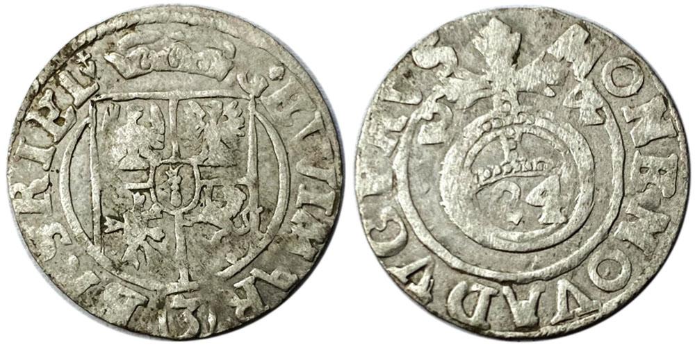 Полторак (1,5 гроша) 1624 Польша — Сигизмунд III — серебро №16