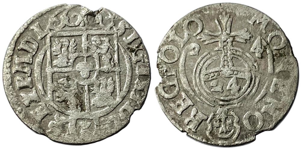 Полторак (1,5 гроша) 1624 Польша — Сигизмунд III — серебро №18