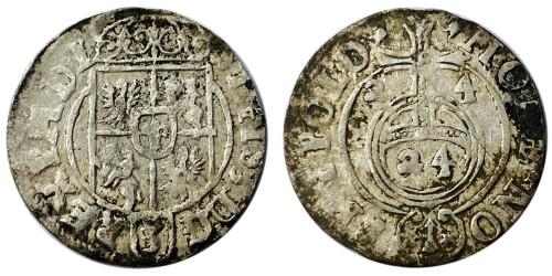 Полторак (1,5 гроша) 1624 Польша — Сигизмунд III — серебро №19