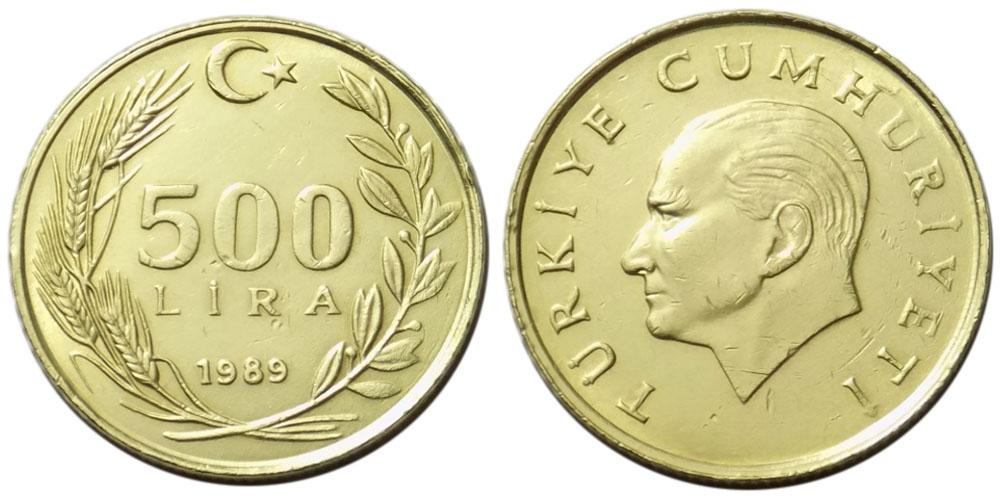 500 лир 1989 Турция
