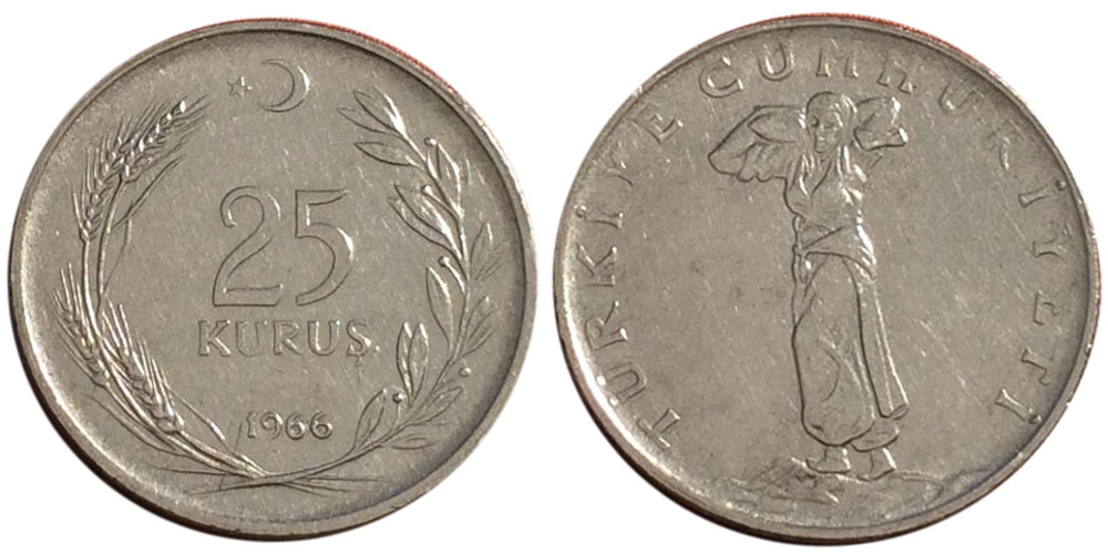 25 курушей 1966 Турция