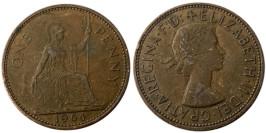 1 пенни 1964 Великобритания