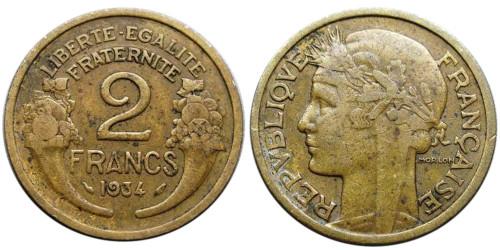 2 франка 1934 Франция