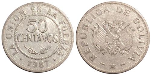 50 сентаво 1987 Боливия