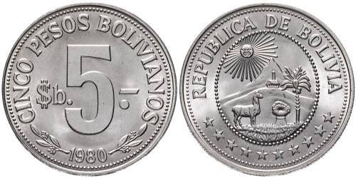 5 песо 1980 Боливия