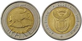 5 рандов 2008 ЮАР — Без отметки монетного двора
