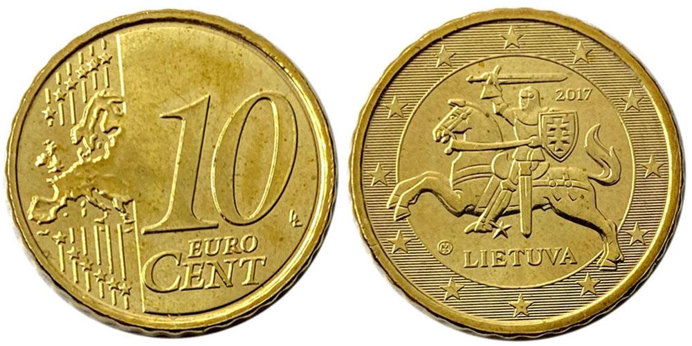 10 евроцентов 2017 Литва UNC