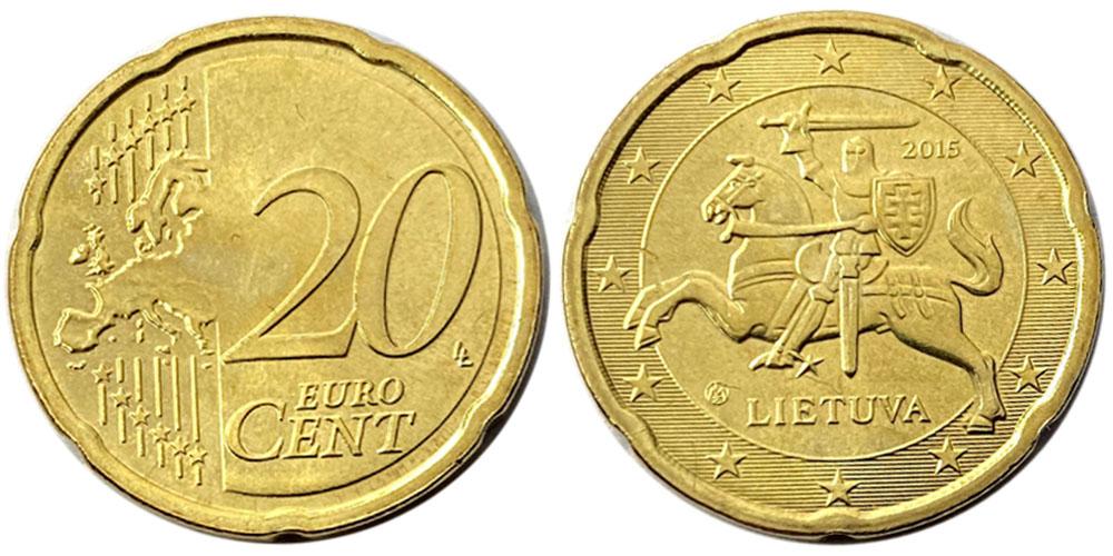 20 евроцентов 2015 Литва UNC