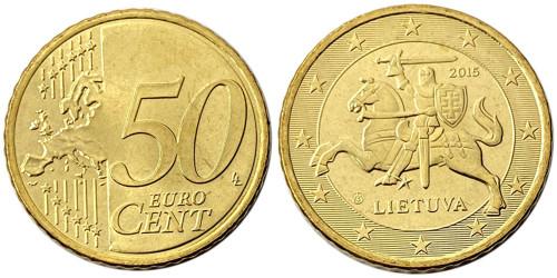 50 евроцентов 2015 Литва UNC