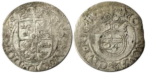 Полторак (1,5 гроша) 1623 Польша — Сигизмунд III — серебро №18