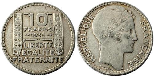 10 франков 1930 Франция — серебро №2