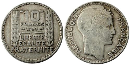 10 франков 1930 Франция — серебро №3