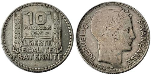 10 франков 1931 Франция — серебро №2