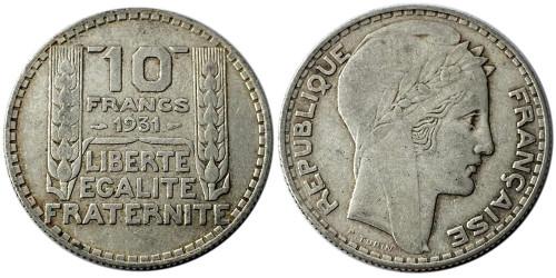 10 франков 1931 Франция — серебро №4