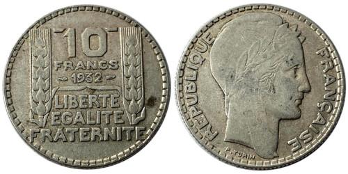 10 франков 1932 Франция — серебро №3