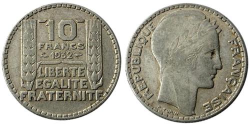 10 франков 1932 Франция — серебро №4