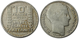 10 франков 1932 Франция — серебро №6