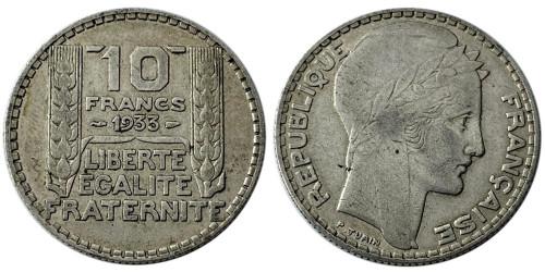 10 франков 1933 Франция — серебро №2