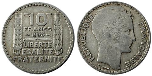 10 франков 1933 Франция — серебро №3