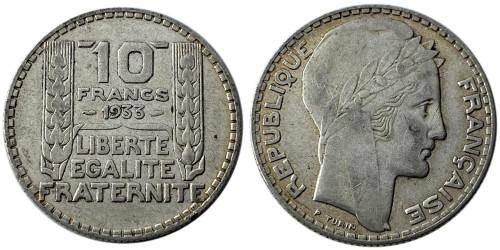 10 франков 1933 Франция — серебро №8