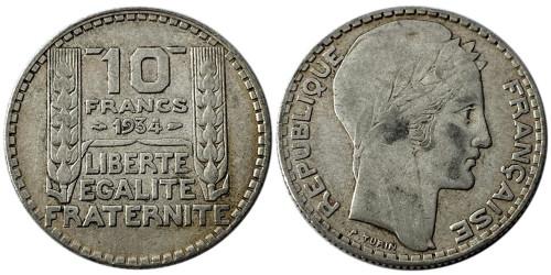 10 франков 1934 Франция — серебро №5