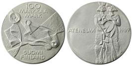 100 марок 1989 Финляндия — Изобразительное искусство Финляндии — серебро