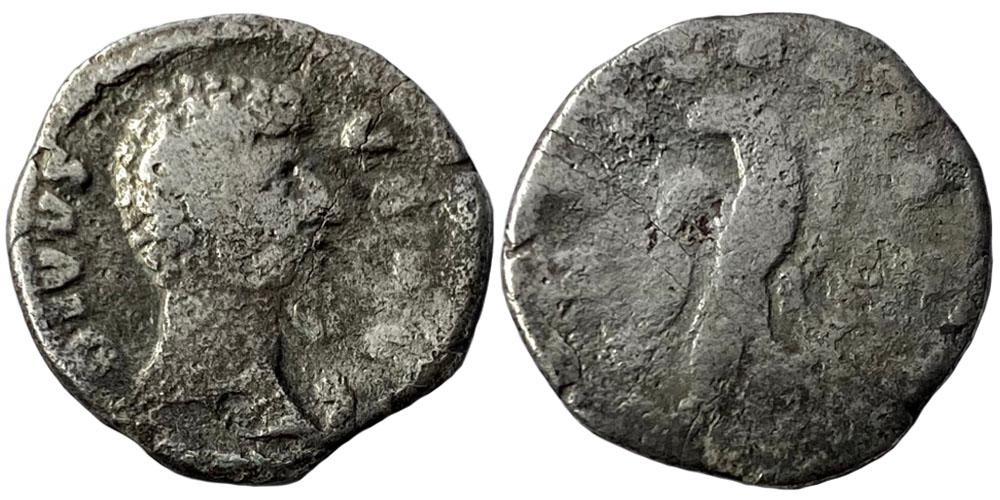 Денарий — Луций Вер (Посмертный) — серебро
