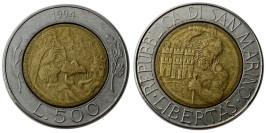 500 лир 1994 Сан-Марино
