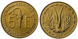 5 франков 1996 Западная Африка UNC