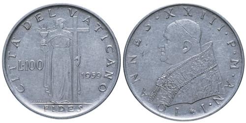 100 лир 1959 Ватикан